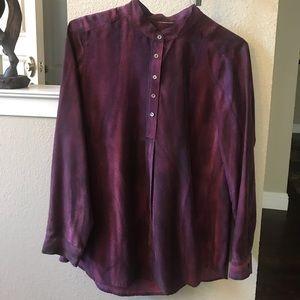 J.Jill pure silk long sleeve blouse small EUC